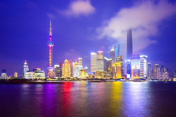 Shanghai, China City Skyline